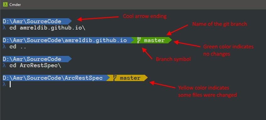 Customize Windows Cmder Prompt · Amr Eldib